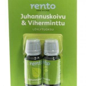 Rento Löylytuoksu Juhannuskoivu & Viherminttu 2 X 10 Ml